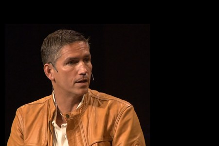 Interview with Jim Caviezel at Rock Church, San Diego