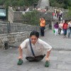 Man Without Legs Climbs Chinese Wall