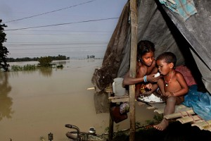 Nearly 1.5 million people relocated by floods in India