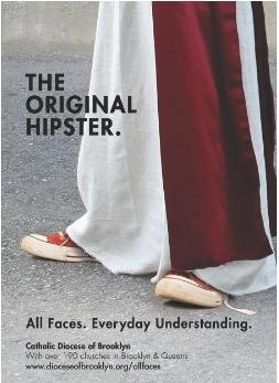 "The Roman Catholic Diocese of Brooklyn launched a new campaign in which Jesus Christ is referred to as ""The Original Hipster."" (The Roman Catholic Diocese of Brooklyn)"