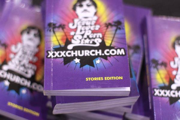 XXXchurch hands out thousands of mini Bibles each time it does outreach work at porn conventions. Its message is about the destructive, addictive nature of pornography and the loving, forgiving nature of God. (Provided by XXXchurch)