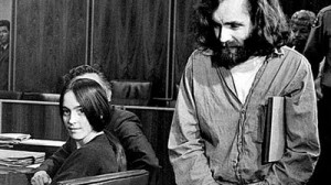 Susan Atkins with Charles Manson in court
