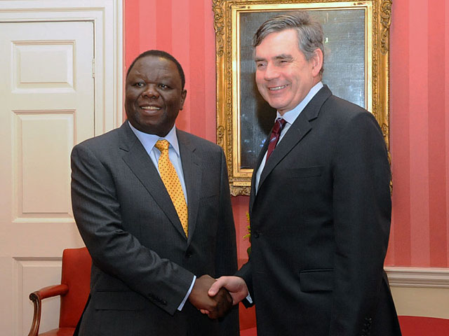 Archive Photo: Zimbabwean Prime Minister Morgan Tsvangirai met with Gordon Brown for talks at Number 10 on 22 June 2009