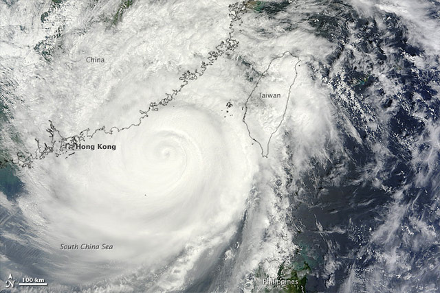 Typhoon Usagi, Satellite Image acquired September 22, courtesy of NASA