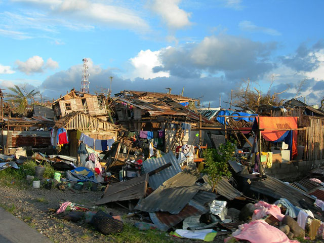 Philippines: Aid agencies face numerous challenges. Entire villages in Leyte province are destroyed. Photo Credit: Joelle Goire, Leyte province, EU/ECHO, 10 November 2013
