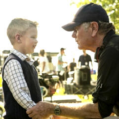 Filmmaker Randall Wallace directs Connor Corum (Photo: Sony Pictures)