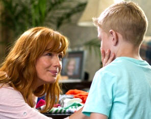 Colton (Connor Corum) tells Sonja (Kelly Reilly) that he met his other sister in Heaven (Photo: Sony Pictures)